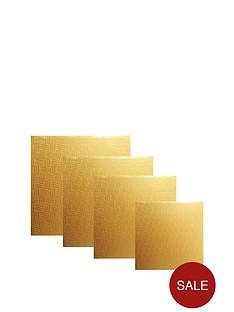 mason-cash-4-piece-square-cake-board-set-gold