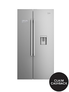 beko-asd241x-usa-style-fridge-freezer-with-stored-water-stainless-steel