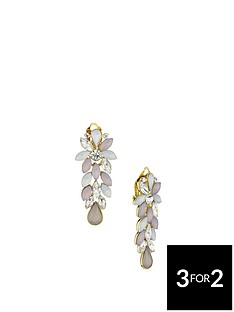 fiorelli-gold-plated-multi-colour-crystal-cluster-clip-on-earrings