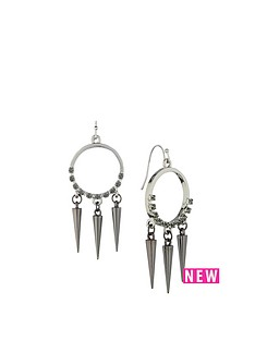 fiorelli-silver-tone-stone-set-spike-drop-long-earrings