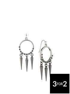 fiorelli-silver-tone-stone-set-spike-drop-long-earrings