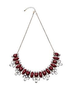 fiorelli-gold-tone-burgundy-and-white-crystal-cluster-necklace