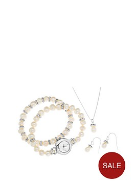 freshwater-pearl-and-crystal-watch-necklace-earrings-and-bracelet-gift-set