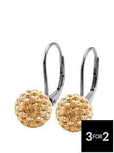 tresor-paris-8mm-round-shape-gold-crystal-titanium-earrings