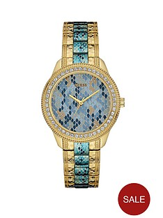 guess-serpentine-blue-crystal-set-dial-gold-plated-with-blue-centre-bracelet-ladies-watch