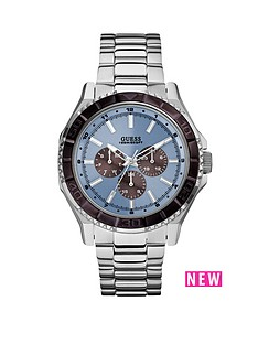 guess-unplugged-blue-multi-dial-stainless-steel-bracelet-mens-watch