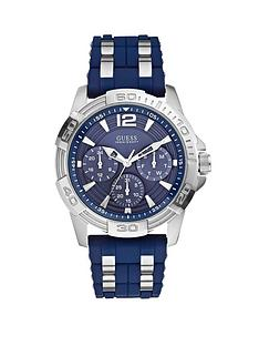 guess-oasis-blue-multi-dial-blue-silicone-and-stainless-steel-bracelet-mens-watch