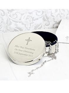 rosary-beads-and-personalised-cross-round-silver-finish-trinket-box