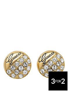 guess-crystal-crush-gold-tone-ball-stud-earrings