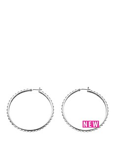 guess-silver-tone-rock-my-world-hoop-earrings