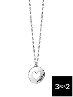 guess-silver-tone-love-cut-out-pendant