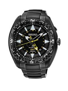 seiko-black-dial-prospex-kinetic-ion-plated-stainless-steel-bracelet-mens-watch