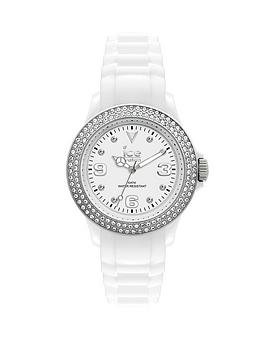 Ice-Watch Ice Star Swarovski Elements® White Silicone Strap Ladies Watch
