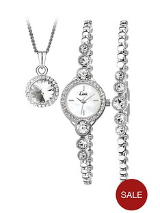 seksy-ladies-silver-bracelet-watch-with-bracelet-and-pendant