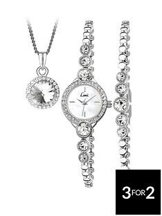seksy-ladies-silver-bracelet-watch-with-bracelet-and-pendant