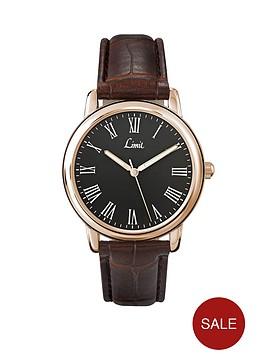 limit-black-dial-brown-strap-mens-watch