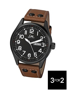 limit-black-dial-with-date-tan-strap-mens-watch