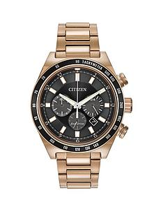 citizen-eco-drive-sport-black-dial-rose-gold-tone-stainless-steel-bracelet-mens-watch