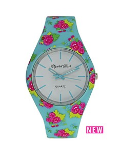 elizabeth-rose-turqoise-and-pink-floral-strap-ladies-watch
