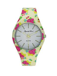 elizabeth-rose-cream-and-pink-floral-strap-watch-with-pink-floral-scarf-gift-set