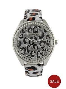 thomas-calvi-crystal-set-animal-print-strap-ladies-watch