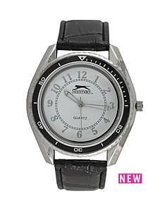 slazenger-white-dial-black-strap-mens-watch