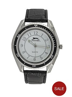 slazenger-white-dial-black-strap-mens-watch
