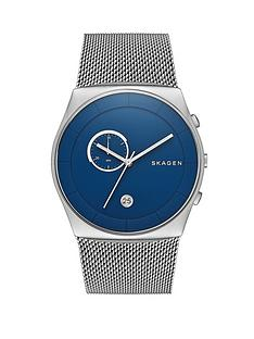 skagen-havene-blue-dial-stainless-steel-mesh-strap-mens-watch