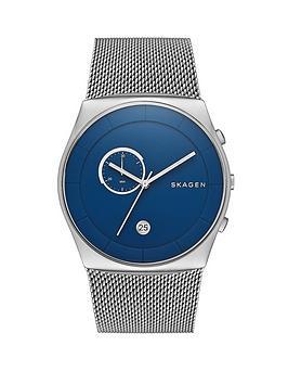 skagen-havene-blue-dial-stainless-steel-mesh-strap-mens-watch