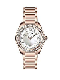 rotary-crystal-set-white-mother-of-pearl-dial-rose-gold-plated-stainless-steel-bracelet-ladies-watch
