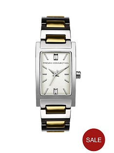 french-connection-two-tone-stainless-steel-bracelet-ladies-watch