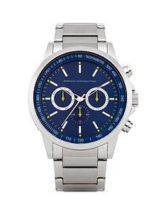french-connection-blue-chrono-dial-stainless-steel-bracelet-mens-watch