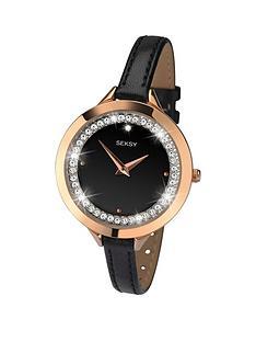 seksy-black-dial-crystal-set-black-leather-strap-ladies-watch