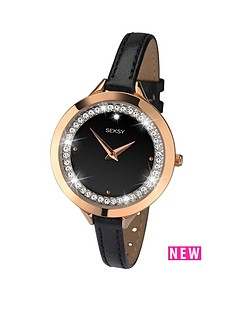 seksy-black-dial-crystal-set-black-leather-strap-ladies-watch