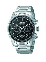Chronograph Black Dial Stainless Steel Bracelet Mens Watch