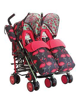 cosatto-supa-dupa-twin-stroller-flamingo-fling
