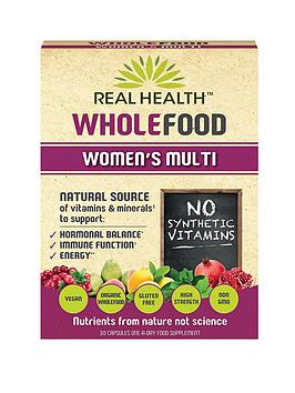 REAL HEALTH Wholefood Women's Multi - 30 Capsules
