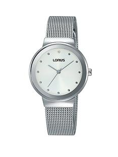 lorus-white-sunray-dial-stainless-steel-mesh-style-bracelet-ladies-watch