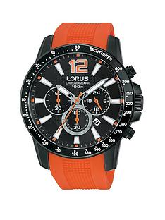 lorus-chronograph-black-dial-with-orange-silicone-strap-sports-mens-watch