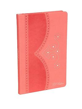 ted-baker-coral-brogue-a5-notebook