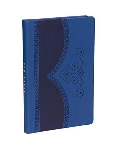 ted-baker-blue-brogue-a5-notebook
