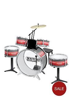 bontempi-6-piece-metallic-silver-drum-set-with-stool
