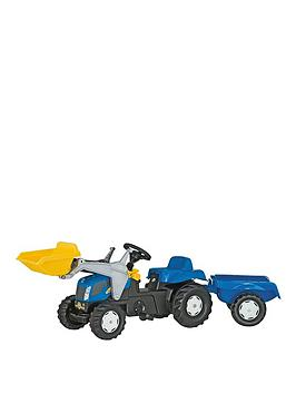 Rolly Toys New Holland TVT 190 Tractor with Frontloader