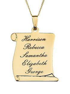 love-gold-personalised-9-carat-yellow-gold-scroll-necklace
