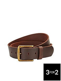 french-connection-casual-leather-belt-brown