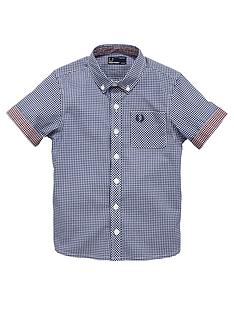 fred-perry-short-sleeve-gingham-shirt