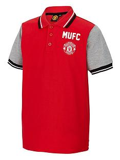 manchester-united-junior-contrast-polo-top