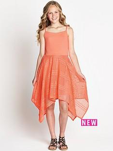 freespirit-girls-neon-hanky-hem-lace-dress