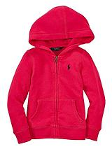 Girls Pony Zip Through Hoodie