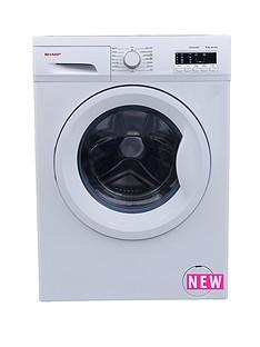 sharp-es-fa6102w2-6kg-load-1000-spin-slimline-washing-machine-white